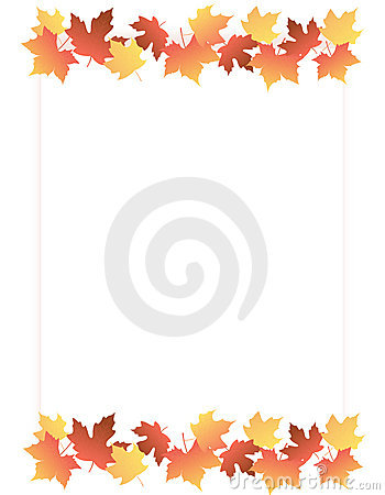 Free Maple Border / Autumn Leaves Royalty Free Stock Photography - 6343017