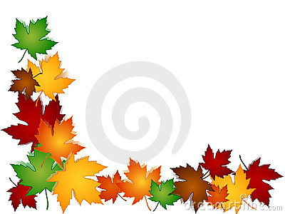 Maple leaves colorful border