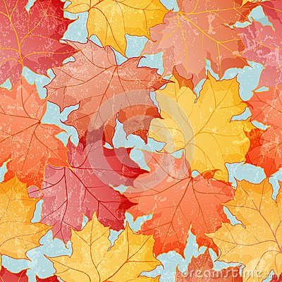 Maple leaves seamless wallpaper