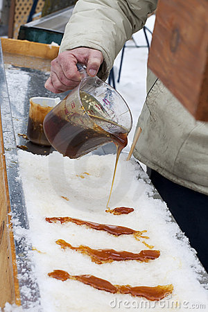Maple Taffy on Snow