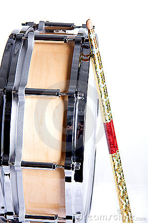 Maple Wood Snare Drum Isolated