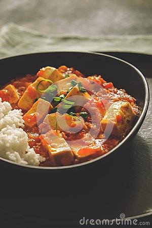 Free Mapo Doufu Or Mapo Tofu Is A Popular Chinese Dish From Sichuan Province Royalty Free Stock Photography - 101028927