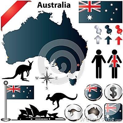 Mappa dell Australia