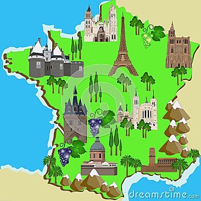 Mappa della francia immagini stock immagine 31968194 - Simboli di immagini della francia ...