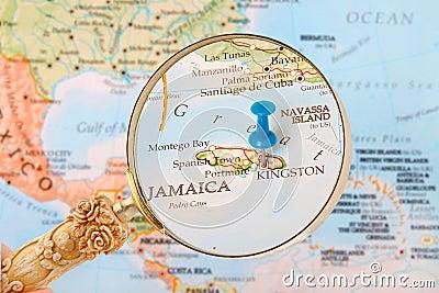 mappa di kingston giamaica fotografia stock immagine