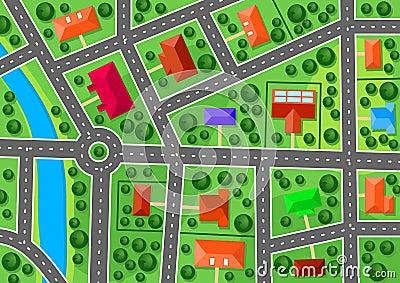 Mappa di sobborgo