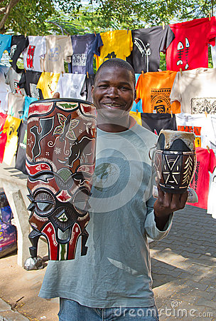 Maputo Staurday s market Editorial Photo
