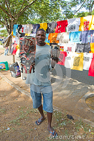 Maputo Staurday s market Editorial Stock Image