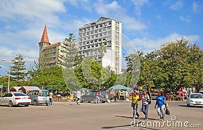 Maputo Staurday s market Editorial Photo