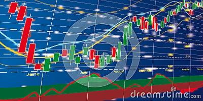 Mapy diagrama rynek walutowy