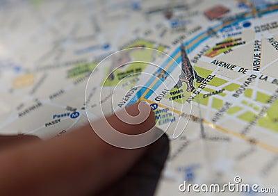 Mapy Paris turysta