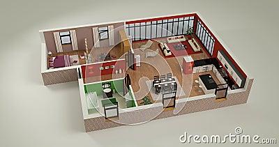 Maqueta de la casa stock de ilustraci n imagen 56121056 - Todo para la casa ...
