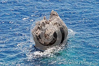 Mar Ionian, console de Corfu, Greece