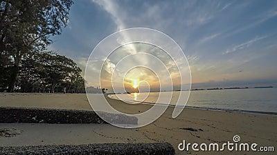 2019-Mar-09 Timelapse wschód słońca wschodniego wybrzeża park Singapur zbiory wideo