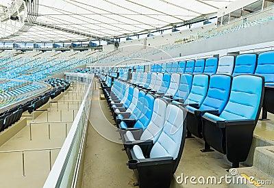 The Maracana Stadium in Rio de Janeiro. VIP grandstand