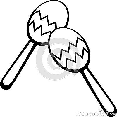 Maracas Vector Illustration Stock Images Image 3075374