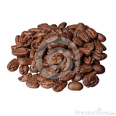 Free Maragogype Colombia Gourmet Coffee On White Background. Royalty Free Stock Photo - 111761035
