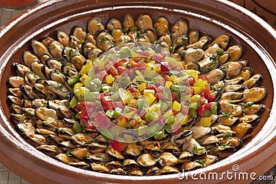 Marakech mussel dish