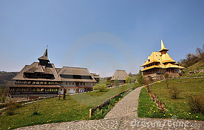 Maramures monastery Birsana Editorial Photo