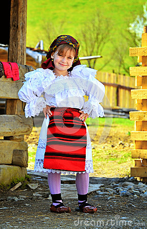 Maramures romanian traditional girl Editorial Image