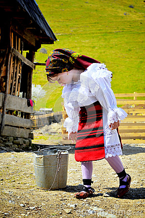 Maramures traditional girl Editorial Photo