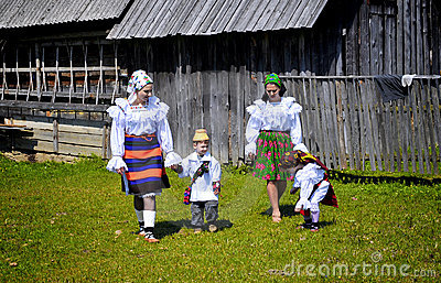 Maramures traditional people Editorial Photo