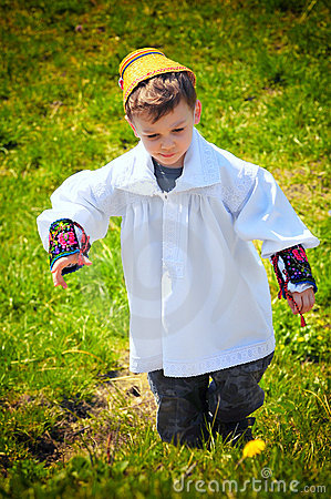 Maramures traditional young boy Editorial Photo