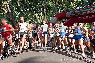 Marathon Runner Runners Start Competition Editorial Stock Photo