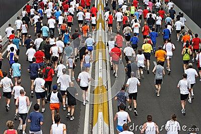 Marathon Editorial Stock Photo