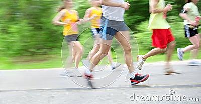 Marathon (in camera motion blur)