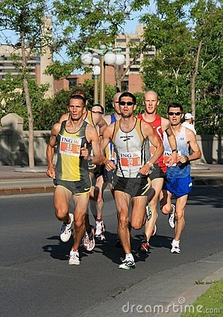 Free Marathon - Group Of Men Stock Photo - 5267040