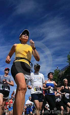 Marathon - Low angle view Editorial Stock Image