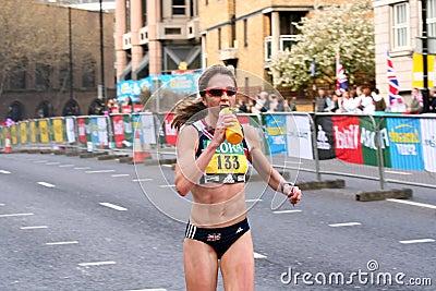 Marathon Runner Num 133 Editorial Stock Photo