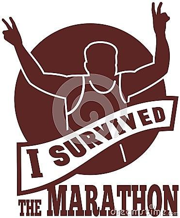 Marathon runner race victory run