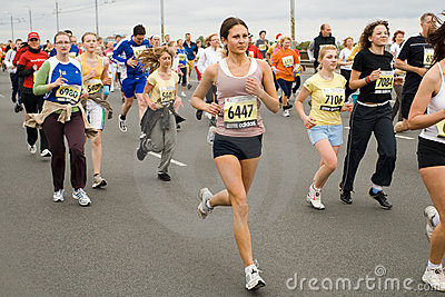 Marathon runners Editorial Stock Photo