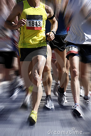 Free Marathon Runners - Blurred Motion Stock Photography - 9628782