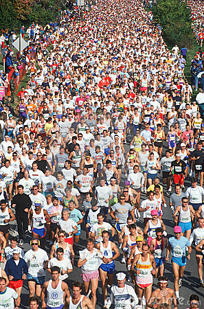 Marathon runners in race Editorial Photography