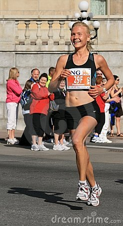 Marathon - Smiling Woman Editorial Image