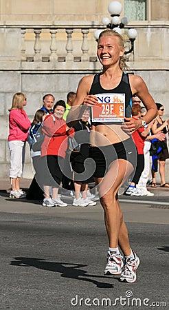 Marathon - Smiling Woman Editorial Image