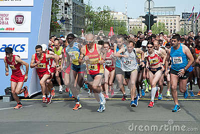 Marathon start Editorial Stock Image
