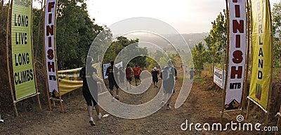 Marathon trail runners Editorial Photography