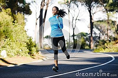 Marathon training runner