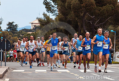 Marathon Vivicitta  2010 - Group followers Editorial Stock Photo