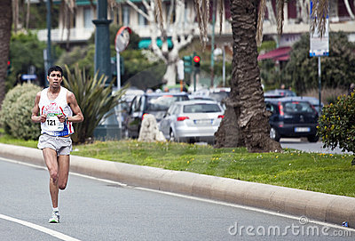 Marathon Vivicitta 2010 - The winner Khalid Gallab Editorial Photography