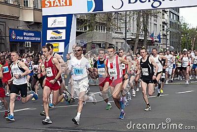 Maraton start-1 Redaktionell Arkivfoto
