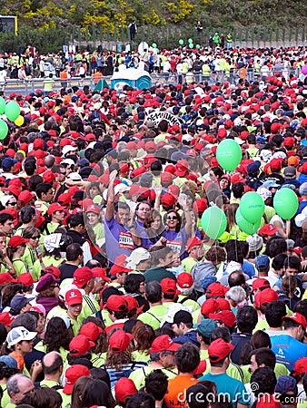 Maratona 2008 di Lisbona Fotografia Editoriale