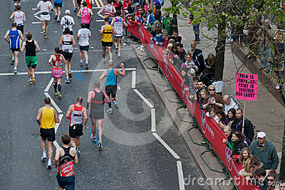 Maratona 2012 di Londra del Virgin Immagine Stock Editoriale