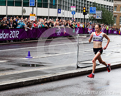 Maratona olímpica Imagem Editorial
