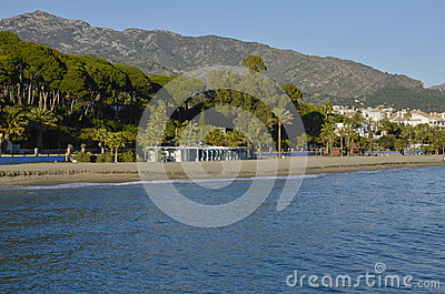 Marbella shoreline