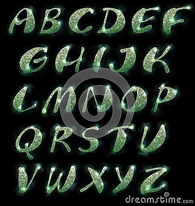 Marble alphabet, set